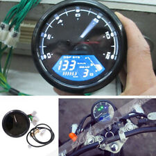 12000rpm Universal LCD Digital Odometer Speedometer Tachometer Motorcycle Gauge