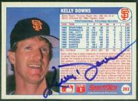 Original Autograph of Kelly Downs of the SF Giants on a 1988 Sportflics
