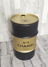 Tonneau Baril Fût de Décoration Noir & Doré Chanel N 5