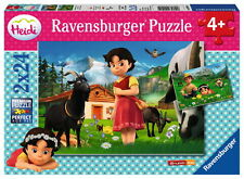 2 X 24 Teile Ravensburger Kinder Puzzle Heidi in den Alpen 09091