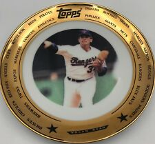 "1993 Topps Nolan Ryan 24 Kt Gold Foil Rim 7 1/2"" Collector Limited Edition Plate"