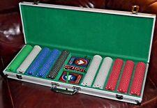 Trademark Poker 500 Chip Texas Hold'Em Set Dice and Card 12.5 Gram w Case