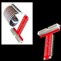 T GPIO For Raspberry Pi B+ 3 2 Breakout Expansion Board DIY Kit +40Pin Cable BN
