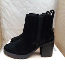 Faith 'Saxon' Ankle Boots - Black Suede - UK 6 - RRP £55
