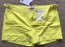 "Orlebar Brown Mens Springer Lightening Bright Yellow Swim Shorts Size 36""W New"