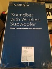 New Insignia Ns-Sb515 2.1-Channel Soundbar with Wireless Subwoofer - Black