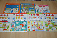 lot 7 livres BABAR séries éducatives : Dessine joue / Pourquoi - J de Bruhnhoff