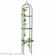1.9M STEEL GARDEN OBELISK GARDEN DECORATION OUTDOOR ROSE PLANT ARCH FREE P&P