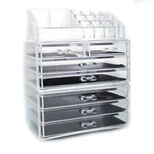 7 Drawer Acrylic Cosmetic Makeup Organizer Jewelry Storage Box Display Case
