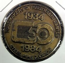 Tubemakers • 1984 • Medallion commemorating 50 Years manufacturing in Newcastle