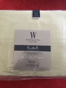 Wamsutta Pimacott  500 Thread Count  Dual cal King Sheet Sateen Set Sage