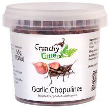 INSETTI commestibili commestibili Bug Bush Tucker AGLIO chapulines 55g Crunchy Critters