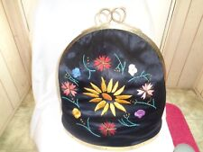 Vintage Hand Embrodered Coffee Or Tea Cosey