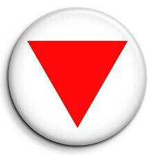 Triangle Rouge Contre Extrême Droite Symbole Mélenchon Badge 38mm Button Pin