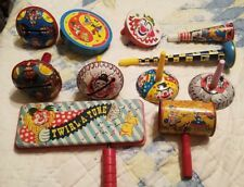11 Vintage Clown Themed Noisemakers Party New Years Kids VTG