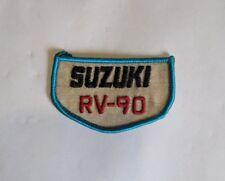 """Vintage 3.25"""" x 2"""" Suzuki RV-90 Embroidered Sew On Patch (Misc 5)"""