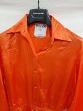 Moschino jeans couture vestito dress  jacket giacca tg 44 donna arancione seta