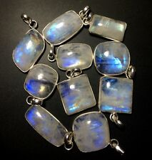 Clearance 10 Rainbow Moonstone Silver Overlay Baby Pendants Wholesale IMG 5872