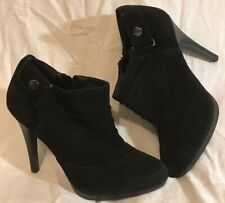 Monsoon Black Ankle Suede Lovely Boots Size 6.5 (355Q)