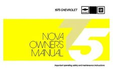 1975 Chevrolet Nova Owners Manual User Guide Reference Operator Book Fuses Fluid