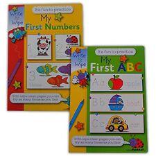 Mon premier chiffres et abc livres Set de 2 - essuyer pour apprendre