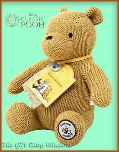NEW MADE WITH LOVE CLASSIC WINNIE THE POOH SOFT TOY GENUINE DISNEY BABY GIFT 0+
