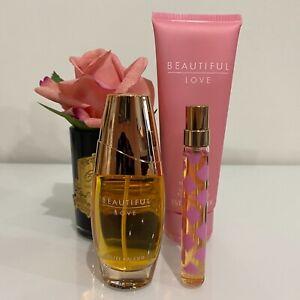 RARE Estee Lauder BEAUTIFUL LOVE 30ml EDP Perfume Spray+8ml Pen+Body Lotion SET