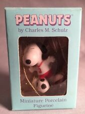 Vintage - Peanuts - Miniature Porcelain Figurine - Ornament - Snoopy Soccer