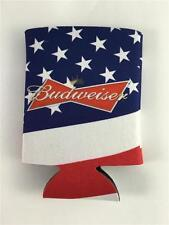 NEW Budweiser American US Flag Can Coolor Koozie Stars & Stripes