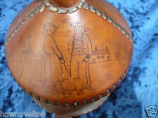 19th CENTURY TREEN BUTTER / HONEY BOX , AS BEE HIVE , PEN WORK  POKER ART