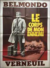 Affiche LE CORPS DE MON ENNEMI Henri Verneuil JEAN-PAUL BELMONDO 120x160cm