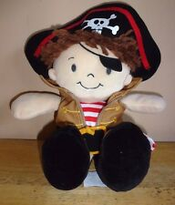 Demdaco Nat & Jules Pirate Boy Learn to Dress Clothes Plush Activity Toy 12""