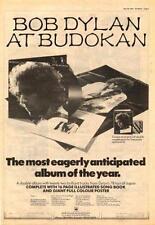 Bob Dylan Budokan UK LP advert 1979