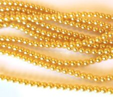 Sunglow Yellow Colour 4mm Round Czech Glass Pearl Polished Beads x 25
