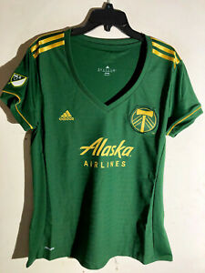 Adidas Women's MLS Jersey Portland Timbers Team Green sz XL