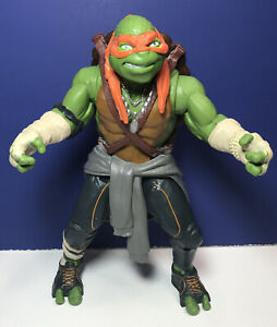 "2014 Playmates MICHAELANGELO 10"" Action Figure TMNT Mutant Ninja Turtles"