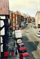 PHOTO  CHESHIRE LOWER BRIDGE STREET CHESTER IN 1986 AS SEEN FROM THE BRIDGE OVER