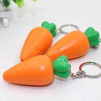 Cute Cartoon Carrot LED Lights Luminous Vocal Mini Flashlight Key Ring Key Chain