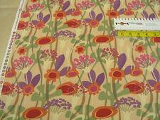 Clothworks • Seedheads • light gold large floral • 0,5m