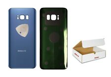 Dark Coral Blue Back Glass Rear Cover Adhesive Replacement Fit Galaxy S8 G950