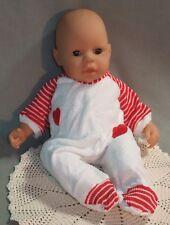 "Valentine Sleeper fits 16"" Babydolls, Zapf Baby Born, Chou Chou, Horsman"