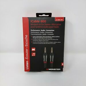 Monster iCable 800 3.5mm Minijack to Car Stereo 7 FT