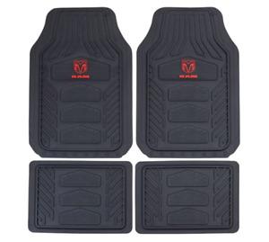 Plasticolor Mopar 001672R01 Weatherpro Black One Size Dodge Ram Logo Rubber Mats