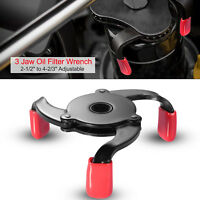 """3 Jaw Oil Filter Wrench 2-1/2"""" to 4-2/3"""" Auto Adjustable Oil Filter Removal Tool"""