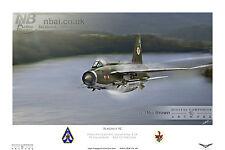 English Electric Lightning F.2A, 92 SQD. Flagship RAF GUTERSLOH Digital Art Print