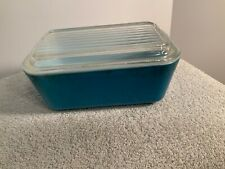 PYREX  BLUE REFRIGERATOR DISH #0602 with lid