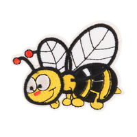 bee embroidered sew iron on patches set badge bag fabric applique craft D TP