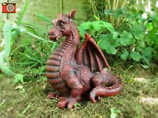A WINGED DRAGON FIGURE, RED SHADE, INDOOR/OUTDOOR, VERY CUTE. GREAT GIFT
