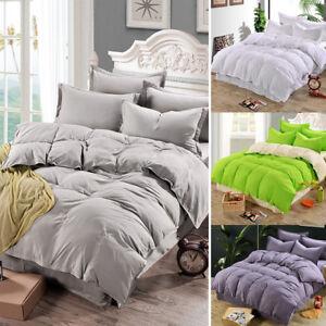 Duvet Quilt Cover Bedding Set Single Double Queen King Size Comforter 4 Pcd Set