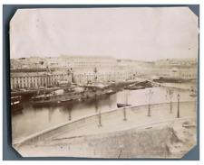 France, Brest, Vue du Port  Vintage citrate print. Tirage citrate  8x10,5